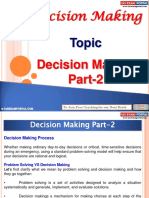 Decision Making Part 2