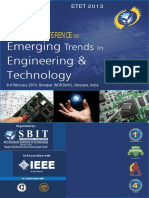 SBIT IEEE Conference Information Brochure (8-9 Feb 2013)