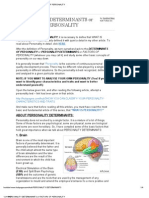 Personality Determinants or Factors of Personality