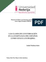 LAS CLASES DE CONVERSACIÓN EN LA ENSEÑANZA DEL ESPAÑOL COMO LENGUA EXTRAJERA