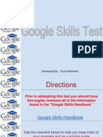 Google Skills Test
