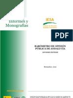 Barometro opinión pública de Andalucia