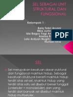 Sel Sebagai Unit Struktural Dan Fungsional