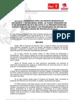 MOCIÓN IU-PSOE mantenimiento  TEAR