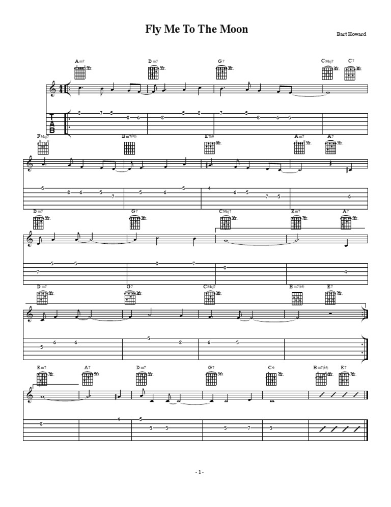 Fly Me To The Moon Guitar Tab
