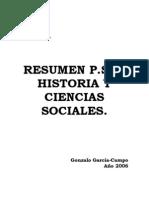 Resumen PSU Historia y Ciencias Sociales