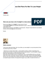 Your Questions About Diet Plans For Men To Lose Weight