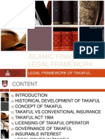 Legal Framework of Takaful