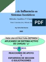 Líneas de Influencia en Sistemas Isostáticos