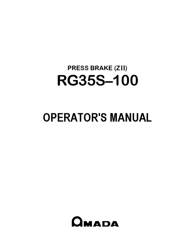 Amada Operators Manual | Cable | Screw