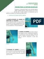 Ejercicios terapeutico para hombro en piscina