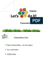 Togo Presentation in African Conference