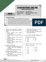 Un Matematika Sma Ipa 2008-Soal+Pembahasan