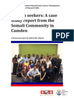 Somali youth in Camden - barriers to employment, training and education