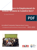 Barriers to employment- Somali women in Camden