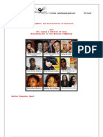 The Causes & Effects of Skin Bleaching Use in the African Community