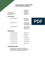 Board Leadership 2012-13 for Distribution- Paragon