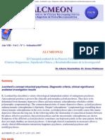 Alcmeón - Revista Argentina de Clínica Neuropsiquiátrica - Leonhard's concep