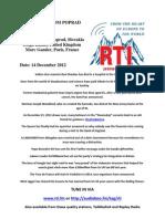 Postcard From Poprad 14 December 2012