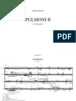 PULSIONI II Per Quartetto d'Archi