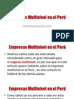 Empresas Multinivel en el Perú