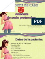 AMENAZA DE PARTO PRETERMINO