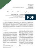 Behaviour of Precast Reinforced Concrete Pile Caps