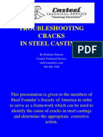 troubleshooting cracks in steel castings