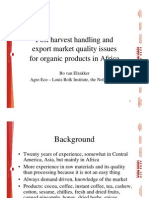 24-Post Harvest Handling and Export Market Quality Issues for Organic Products in Africa Van Elzakker