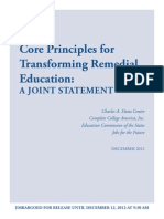 Core Principles for Transforming Remedial Education
