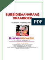 Subsidieaanvraag Draaiboek in 10 fases