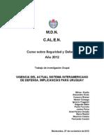 Sinopsis Sistema Interamericano de Defensa