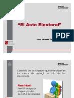 El Acto Electoral