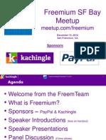 Cynthia Typaldos, Founder, Kachingle  Introduces Freemium SF Bay Area Meetup