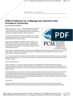 PCM of California, Inc. to Manage San Clemente's New Providence Community