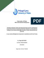 A case study of Bridgestone Corporation's subsidiaries of UK and Turkey