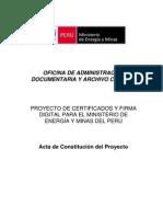 1  Acta de Constitución del Proyecto