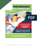 High Performance Affiliate Marketing
