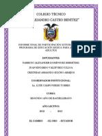 Informe de participación en el Programa de EBJA