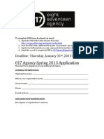 Student Organization Application