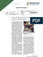 Informe de prensa semana del 07 al 14 de diciembre de 2012