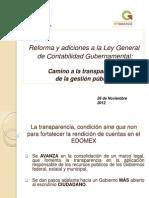 Presentación Reformas a la Ley General de Contabilidad Gubernamental