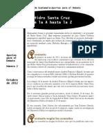 Hidro Santa Cruz, de la A hasta la Z