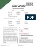 ACI 207.2 (R2002) EffectofRestraint VolumeChange &Reinf Cracking MassConcrete