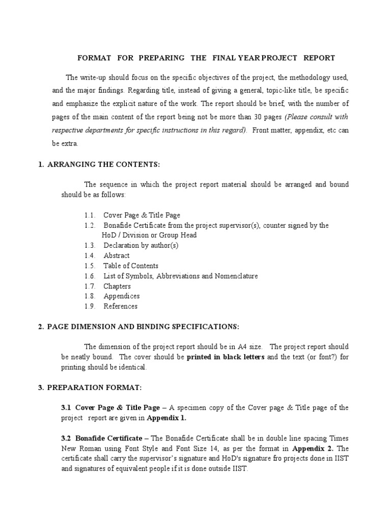 Final year project report format table of contents abstract final year project report format table of contents abstract summary yelopaper Image collections