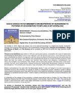 Mussorgsky Press Release