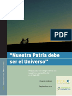 PDF Nuestra Patria Debe Ser El Universo
