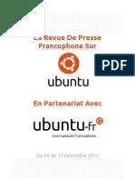 Revue de Presse Francopone sur Ubuntu - Du 05 au 11 Décembre 2012