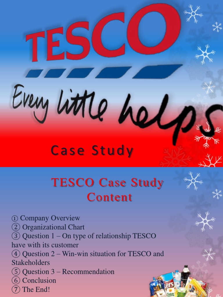 tesco case study t d