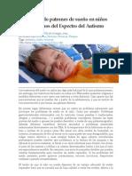 Estableciendo patrones de sueño en niños con Trastornos del Espectro del Autismo